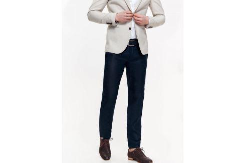 Top Secret Kalhoty pánské tmavě modré společenské Pánské kalhoty