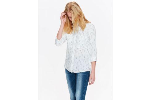 Top Secret Košile dámská bílá s jemným vzorem Dámské halenky a košile