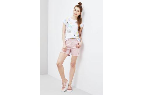 Moodo Kraťasy dámské bílé jeans potrhané Dámské šortky