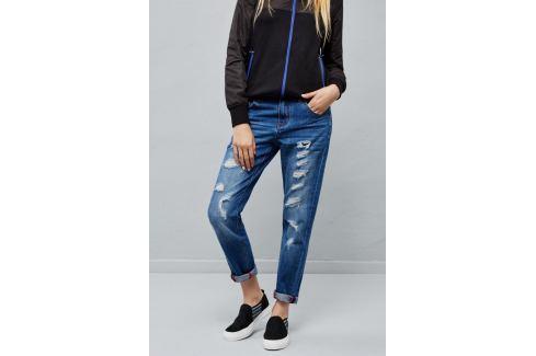 Moodo Jeans dámské roztrhané Dámské kalhoty