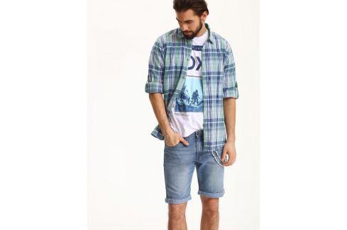 Top Secret Košile pánská kostičkovaná dlouhý rukáv Pánské košile