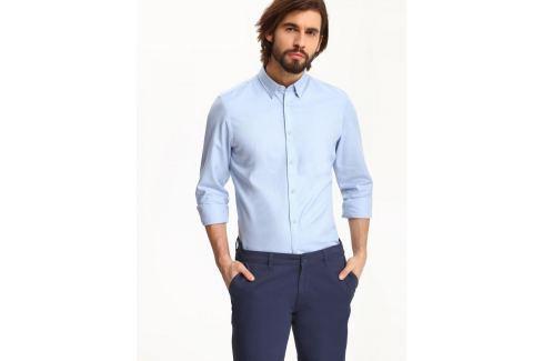 Top Secret Košile pánská bledě modrá s dlouhým rukávem Pánské košile