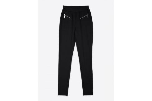 Top Secret Legíny dámské černé se zipy Dámské kalhoty