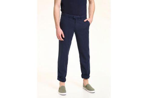 Top Secret Kalhoty pánské tmavě modré lněné Pánské kalhoty