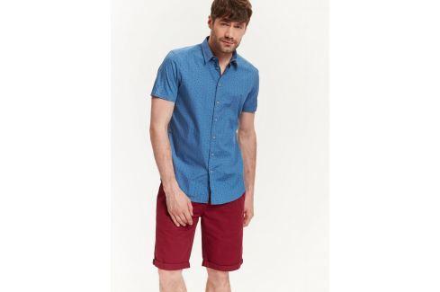 Top Secret Košile pánská modrá se vzorem a krátkým rukávem Pánské košile